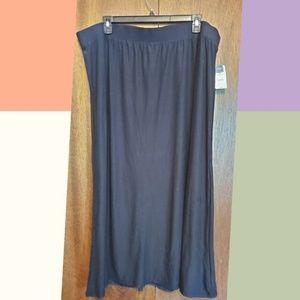 Buttery soft black maxi skirt